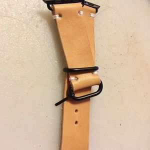 Natural Horween Leather Apple Watch band